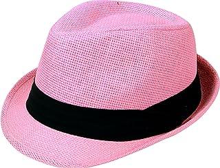 219cf66545523 AbbyLexi Men Women Outdoors Summer Short Brim Straw Fedora Sun Hat