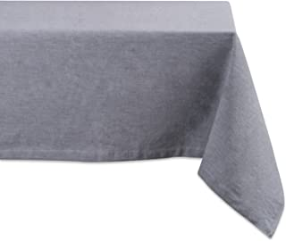DII 100% Cotton, Chambray Tablecloth, Everyday Basic, Seats 4 to 6 People, 60x84, Gray