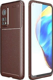 شاومى مى 10 تى / مى 10 تى برو (Xiaomi Mi10T / Mi 10T Pro 5G) جراب خلفي اتوفوكس سيليكون مقاوم للصدمات من الكربون فايبر - بنى