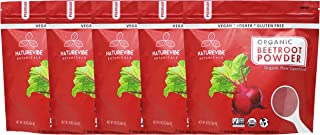 Organic Beet Root Powder (5 lbs - 5 Pack of 1 Pound Each), Raw & Non-GMO   Nitric Oxide Booster   Boost Stamina and Increases Energy