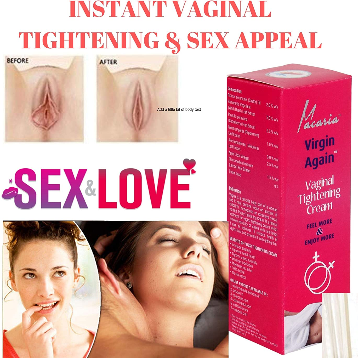 ましいケニア最初VAGINA TIGHTENING CREAM GEL & LOTION