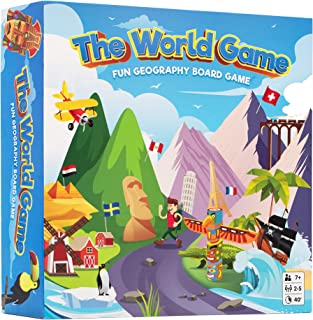 The World Game - Fun Geography Board Game - Educational Game for Kids & Adults - Perfect for Teenage Boys & Girls + Wall P...