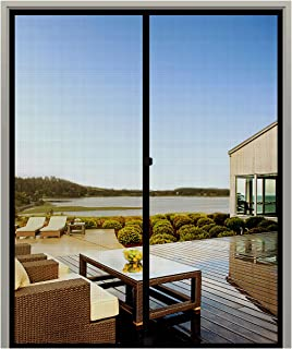 MAGZO French Screen Door 72 x 80, Durable Fiberglass Mesh with Heavy Duty Full Frame Hook&Loop Fits Door Size up to 72