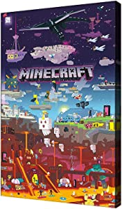 Minecraft poster SANTA RONA art minecraft wall decor posters Painting Canvas Prints Bedroom Large home decor minecraft pictures for wall (Canvas roll:16x24(inch),YX0305)