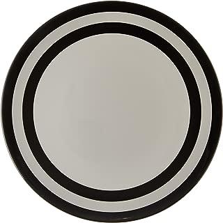Kate Spade New York Raise a Glass Melamine Dinner Plate, Black Stripe