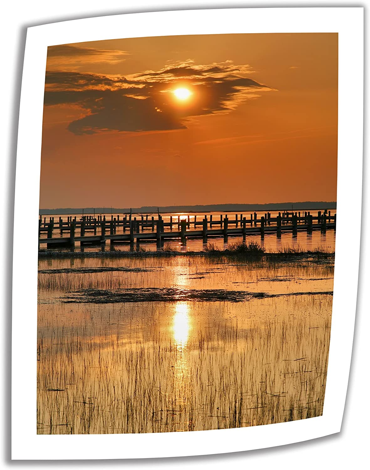 Art Wall 'Sunset Bay' Unwrapped Canvas Artwork by Steve Ainsworth, 28 by 22Inch