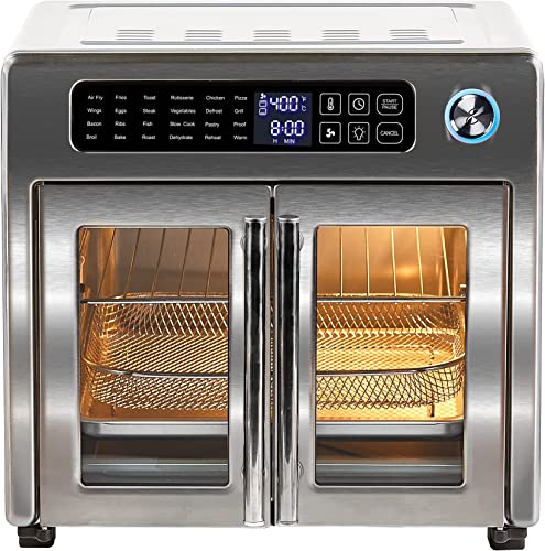 2021 Emeril Lagasse 26 QT Extra Large Air Fryer, Convection Toaster online Oven with French Doors, Stainless discount Steel online sale