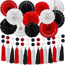 Amazon Com Black And Red Party Decorations