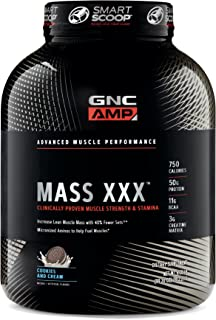 GNC Pro Performance AMP Amplified Mass XXX - Cookies Cream 6.20lb (99.20 oz)