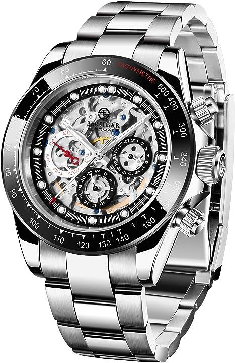Orologio multifunzione da uomo orologio impermeabili orologio da polso acciaio inossidabile bersigar PD1653