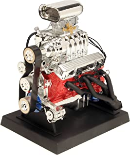 Liberty Classics 84035 Orange and Silver Chrome 5 Inch x 6 Inch x 7 Inch 1: 6 Engine - Chevrolet Blown Hot Rod