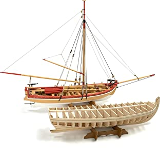 Model Shipways 18th Century Armed Longboat 1:24 Scale - Laser Cut Wood, Metal & Photo-Etched Brass Kit