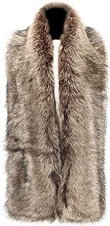 Caracilia Women Winter Warm Faux Fox Fur Collar Scarf Stole Long Scarf Shawl