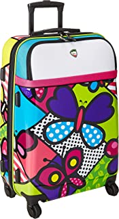 Mia Toro Italy-Butterflies Hybrid Hardside 24 Inch Spinner Luggage
