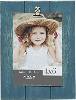 Pinnacle Frames and Accents Teal Farmhouse Pallet Wood Shiplap Clip Tabletop Picture Frame