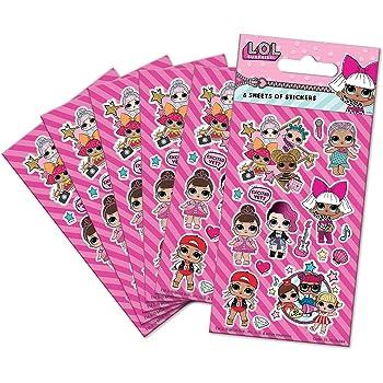 Pegatinas de Brillantina Color Bunte Sticker 14191 SES Creative Surprise L.O.L
