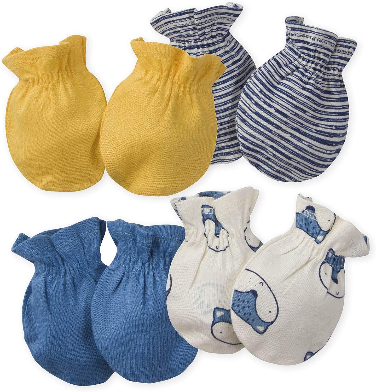Gerber Baby Boys' 4-Pair Mittens