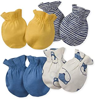 Baby Boys' 4-Pair Mittens