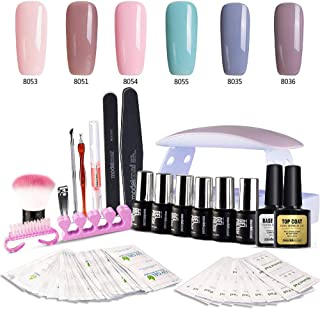 Best gel nail polish set with uv light Reviews