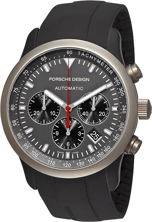 Orologio porsche design p `6612 grigio titanio e alluminio quadrante orologio da uomo 6612.14.50.1139