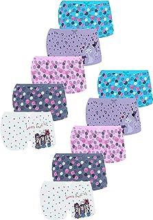 LOREZA ® 10 Calzoncillos cómodos y Suaves Ropa Interior de algodón Niñas pequeñas Bragas Surtidas - Tallas 92-158