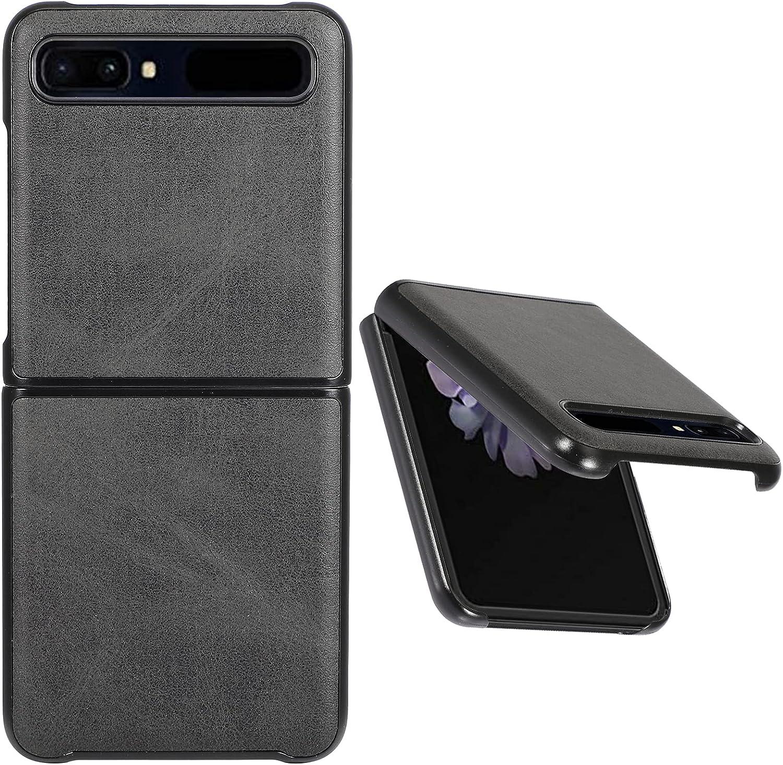 Case for Samsung Galaxy Z Flip Case/Z Flip 5G Case, Premium Leather Ultra Thin Case for Galaxy Z Flip/Z Flip 5G