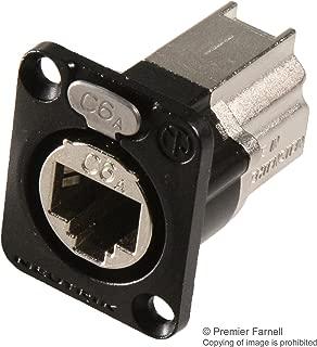 NE8FDX-P6-B - In-Line Adapter, RJ45, RJ45, Adapter, In-Line, etherCON Series, Jack, 8 Positions, (Pack of 2) (NE8FDX-P6-B)