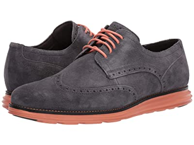 Cole Haan Original Grand Wingtip Oxford (Magnet Leather/Black/Canyon Sunset) Men