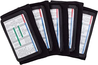 Pro Athletics 6 Pack QB Wristband- Football Playbook Wristband with 3 Compartments for Adults(6 PC)