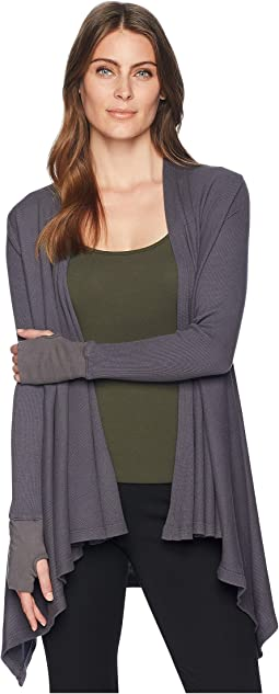 L/S Open Cardigan w/ Thumbhole Cuffs