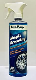 Auto Magic Magic Dressing Superior Long Lasting Silicone Tire Shine - 16oz