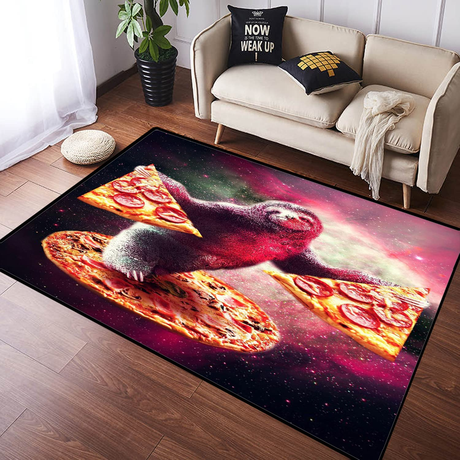 GUVICINIR Modern Area Our shop OFFers the best service Deluxe Rug Large Floor Cartoon in Mat Color Sloth