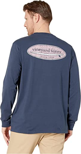 2a4dd14e97c0 Vineyard Vines Long Sleeve Vintage Whale Pocket Tee | Zappos.com