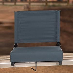 Flash Furniture XU-STA-DKBL-GG: Grandstand Comfort-500 Lb. Rated Stadium Chair W/Handle & Ultra-Padded Seat, Dark Blue, 1 Pack
