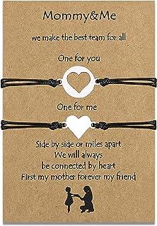Bracelets mère fille ensemble assorti cordon String Bracelet cadeau de maman à la relation de fille à la main souhait bijo...
