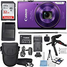 Canon PowerShot ELPH 360 HS (Purple)12x Optical Zoom -...