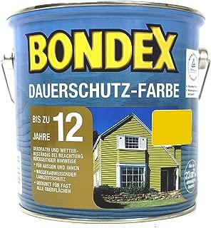 Bondex Dauerschutzfarbe 2,5 l - rapsgelb RAL1021, für Holz Innen und Außen