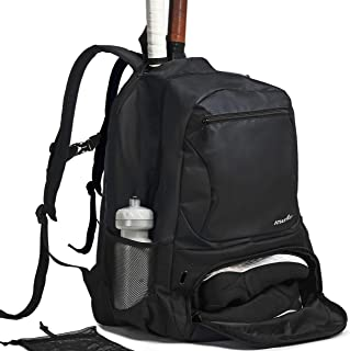 Athletico Premier Tennis Backpack - Tennis Bag Holds 2 Rackets in Padded Compartment | Separate Ventilated Shoe Compartment | Tennis Bags for Men or Women