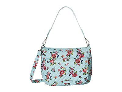 Vera Bradley Carson Shoulder Bag (Water Bouquet) Shoulder Handbags