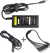 RayWEE 12V 5A 60W DC Power Supply with 8 Way CCTV Power Splitter Cable & DC Power Jack Connector Power Supply Transformer for CCTV Security Camera DVR