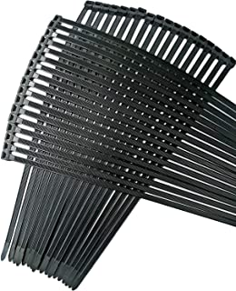USDWRM Cable Zip Ties Cable Ties 18 inch, 100 Piece Value Pack of Black Nylon Zip Ties by Strong Ties. 175 Pounds Tensile ...
