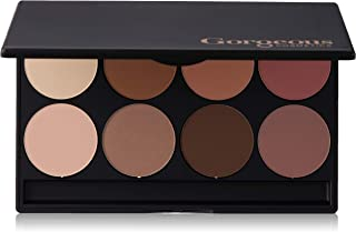 Gorgeous Cosmetics Contour Eyeshadow Palette, 8 shades