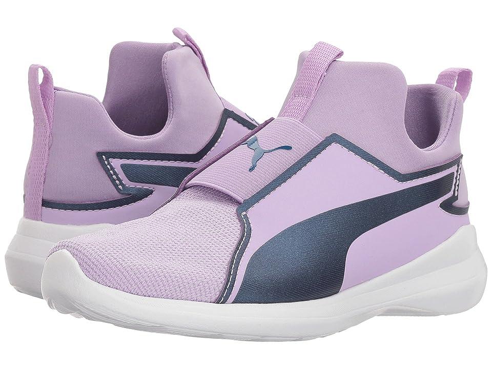 Puma Kids Rebel Mid Gleam (Little Kid) (Purple Rose/Sargasso Sea) Girls Shoes