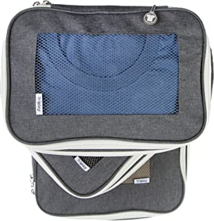 Tripley Compression Packing Cubes for Travel, Set of 3 Luggage Organizers with Space-Saving Double Zipper