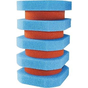 Pondlife Filterschwamm Ersatz-Set f/ür Oase FiltoClear 11000 4X rot 5X blau