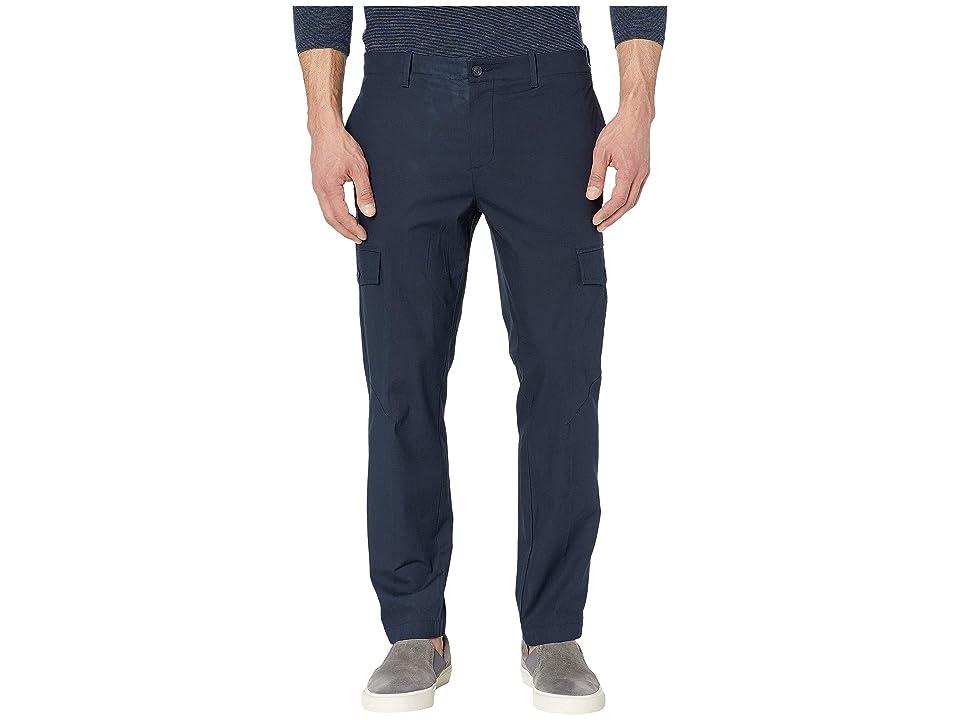 Perry Ellis Slim Fit Stretch Cargo Pants (Dark Sapphire) Men