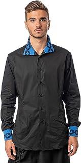 Morgan Visioli Fashion Camisa Hombre Negra EN ROMBO
