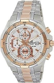 ساعة ايديفيس كرونوغراف من الستانلس ستيل للرجال من كاسيو