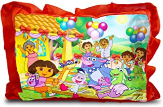 Rectangle Shape Cartoon Printed Micro Fabric and Velvet Baby Pillow - 14 x 20-inches