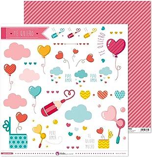 Anita y Su Mundo Collection Puro Amor Scrapbooking, Paper, découpables en papier, 30,5 x 30,5 cm